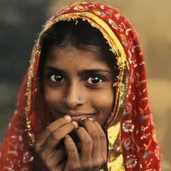 Village Girl, Jaipur, India, 1982