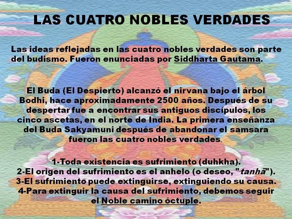 Las cuatro nobles verdades