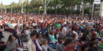 Meditación Colectiva con Thich Nhat Hanh en Barcelona: